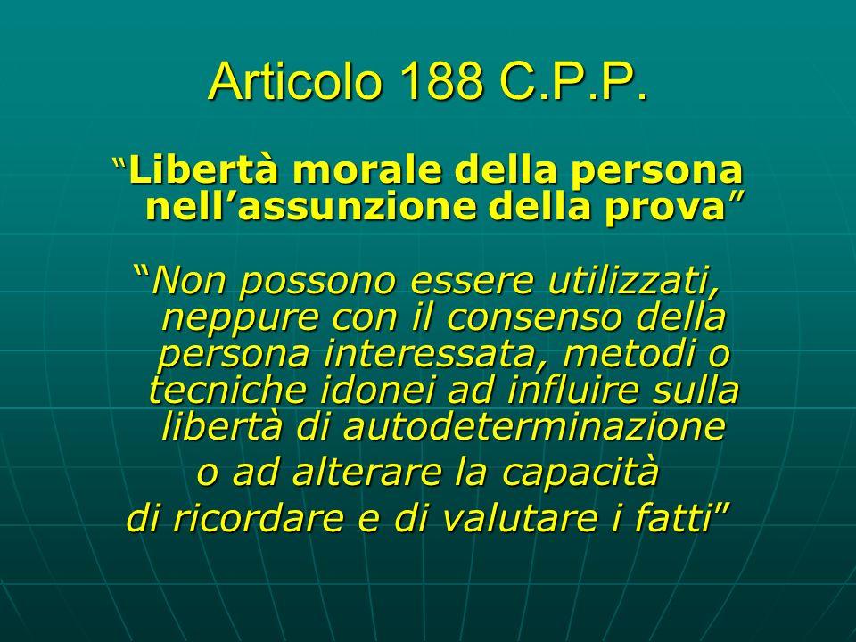 Articolo 188 C.P.P.