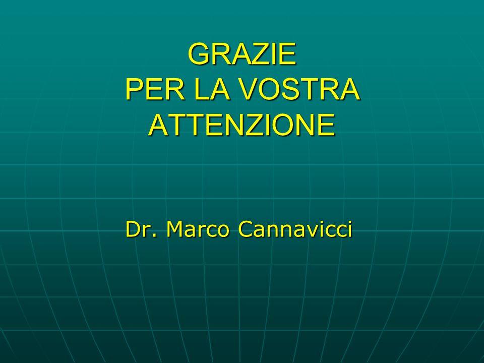 GRAZIE PER LA VOSTRA ATTENZIONE Dr. Marco Cannavicci