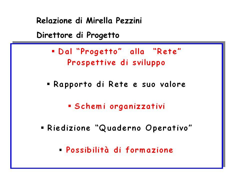 Relazione di Mirella Pezzini Direttore di Progetto