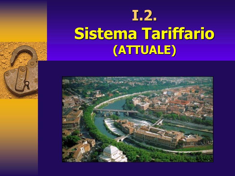 I.2. Sistema Tariffario (ATTUALE)
