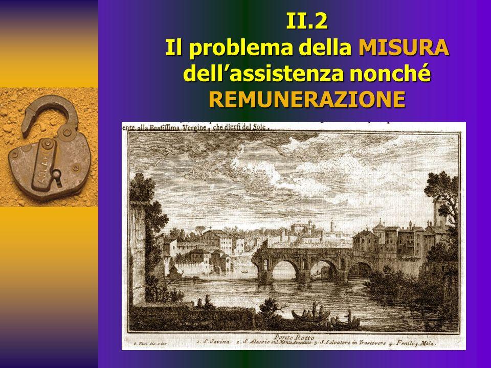 II.2 Il problema della MISURA dellassistenza nonché REMUNERAZIONE