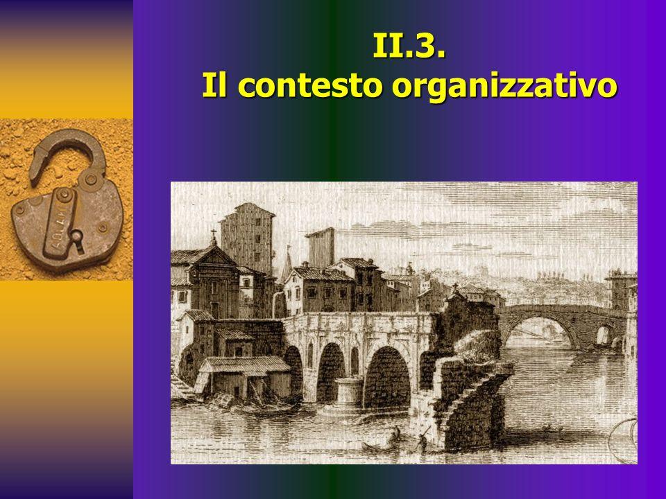 II.3. Il contesto organizzativo