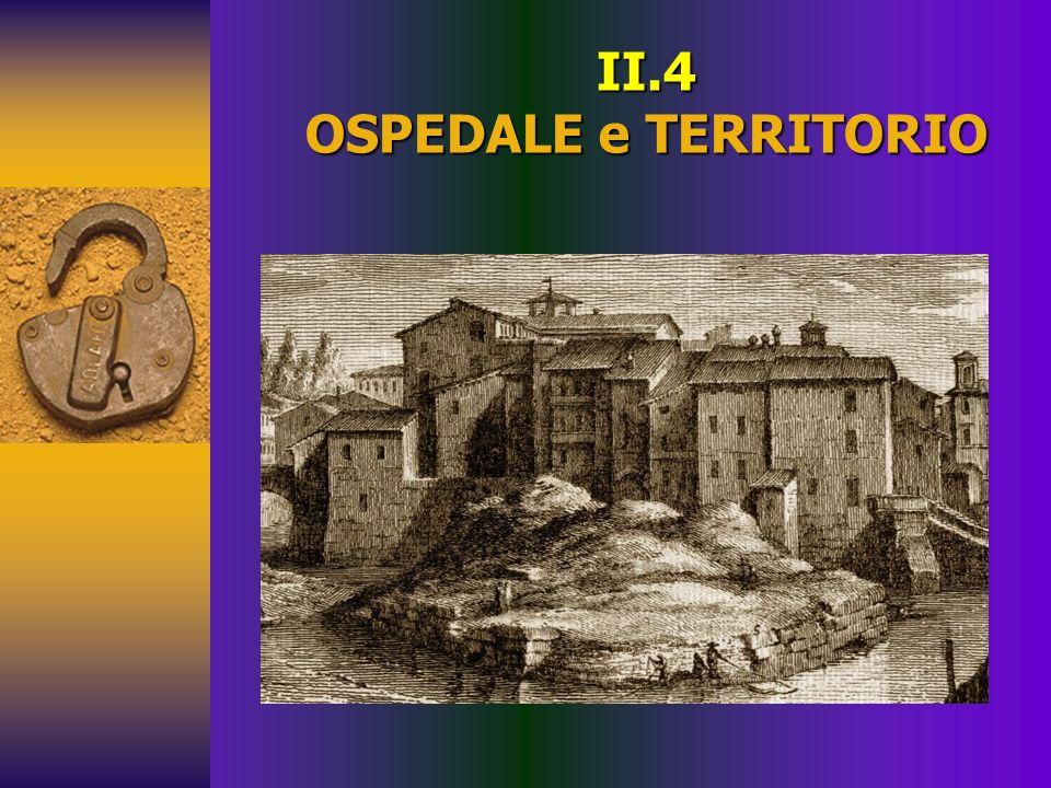 II.4 OSPEDALE e TERRITORIO
