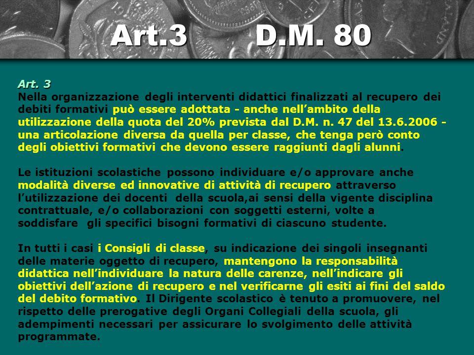 Art.3 D.M.80 Art.