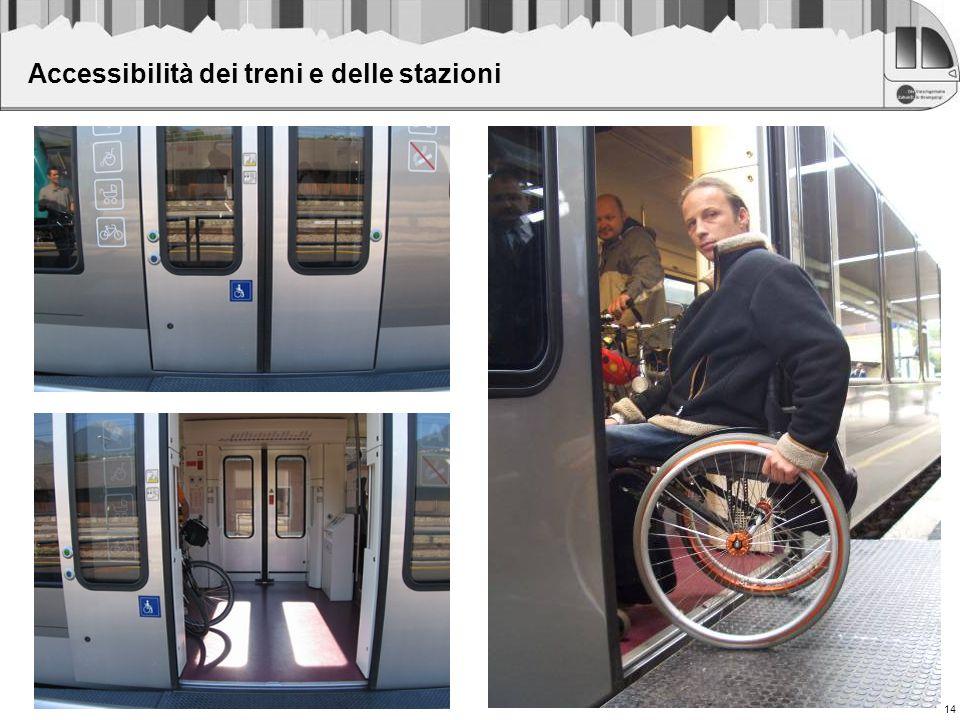 14 Accessibilità dei treni e delle stazioni