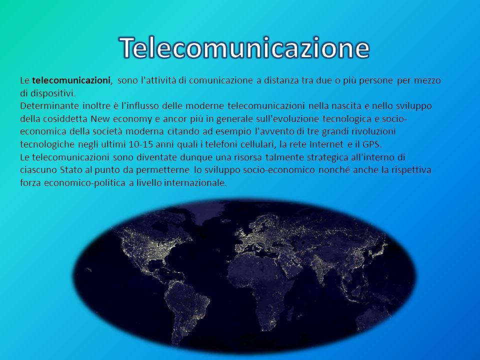 Le telecomunicazioni, sono l'attività di comunicazione a distanza tra due o più persone per mezzo di dispositivi. Determinante inoltre è l'influsso de
