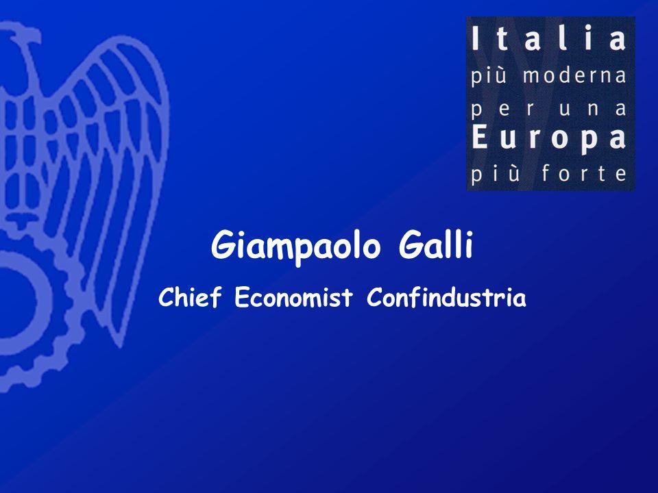 Giampaolo Galli Chief Economist Confindustria