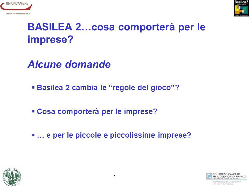 0 Camera di Commercio di Lodi - Consorzio Camerale BASILEA 2: QUALI SCENARI PER LE PICCOLE IMPRESE.