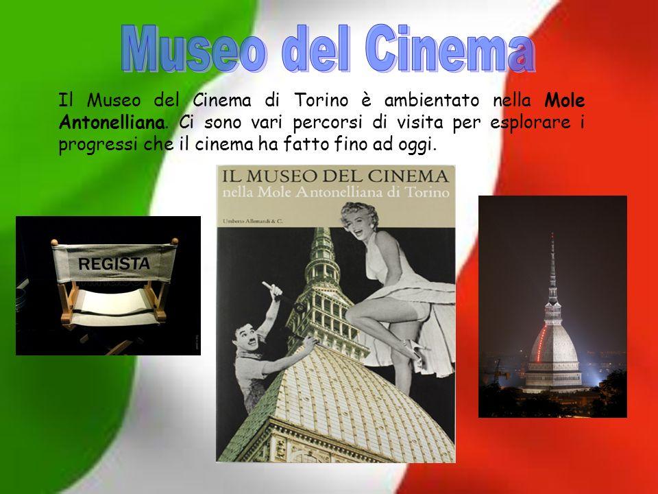 Il Museo del Cinema di Torino è ambientato nella Mole Antonelliana. Ci sono vari percorsi di visita per esplorare i progressi che il cinema ha fatto f