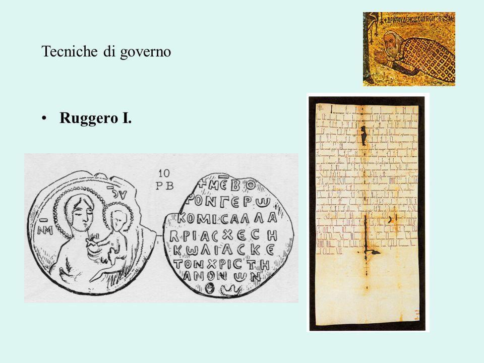 Ruggero I. Tecniche di governo