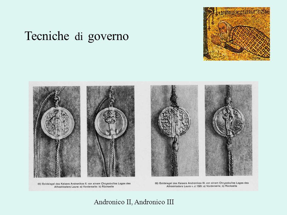 Tecniche di governo Andronico II, Andronico III