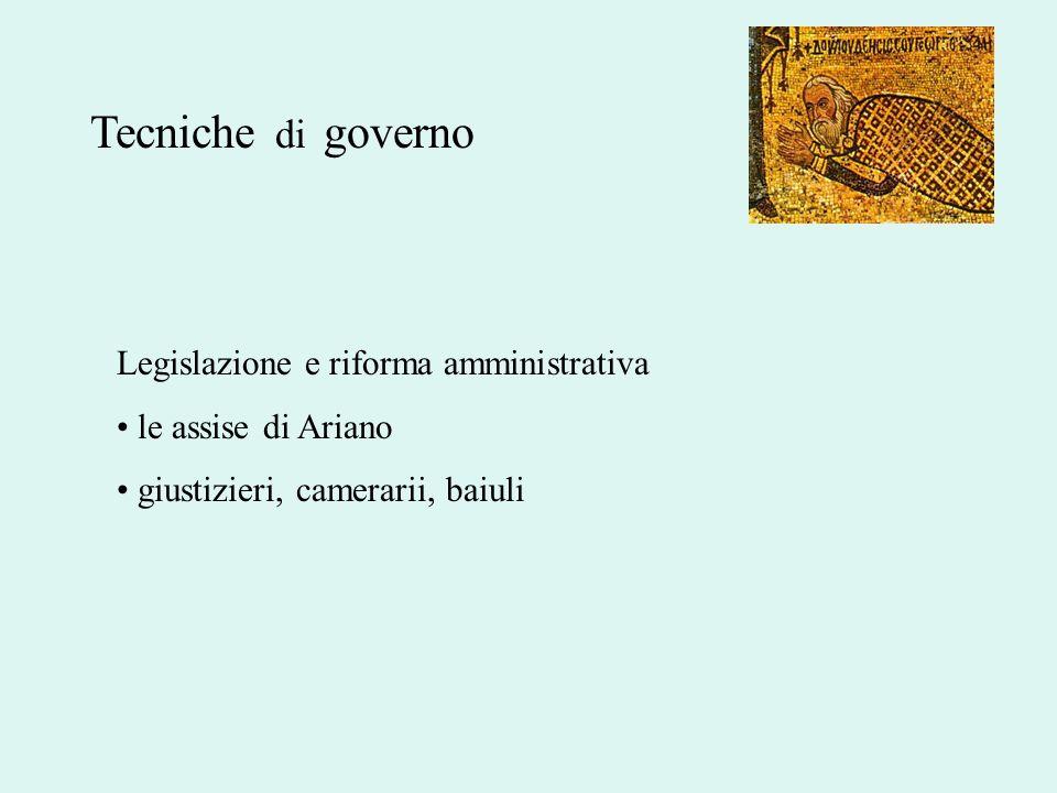 Legislazione e riforma amministrativa le assise di Ariano giustizieri, camerarii, baiuli