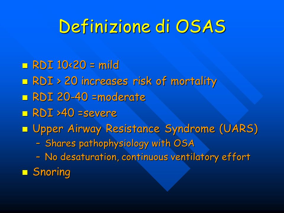 Pediatric OSAS Impaired growth Impaired growth –Possible impairment of release or end- organ response to GH –Increased caloric effort with respiration –Difficulty with eating Cor pulmonale Cor pulmonale Associated with GERD Associated with GERD