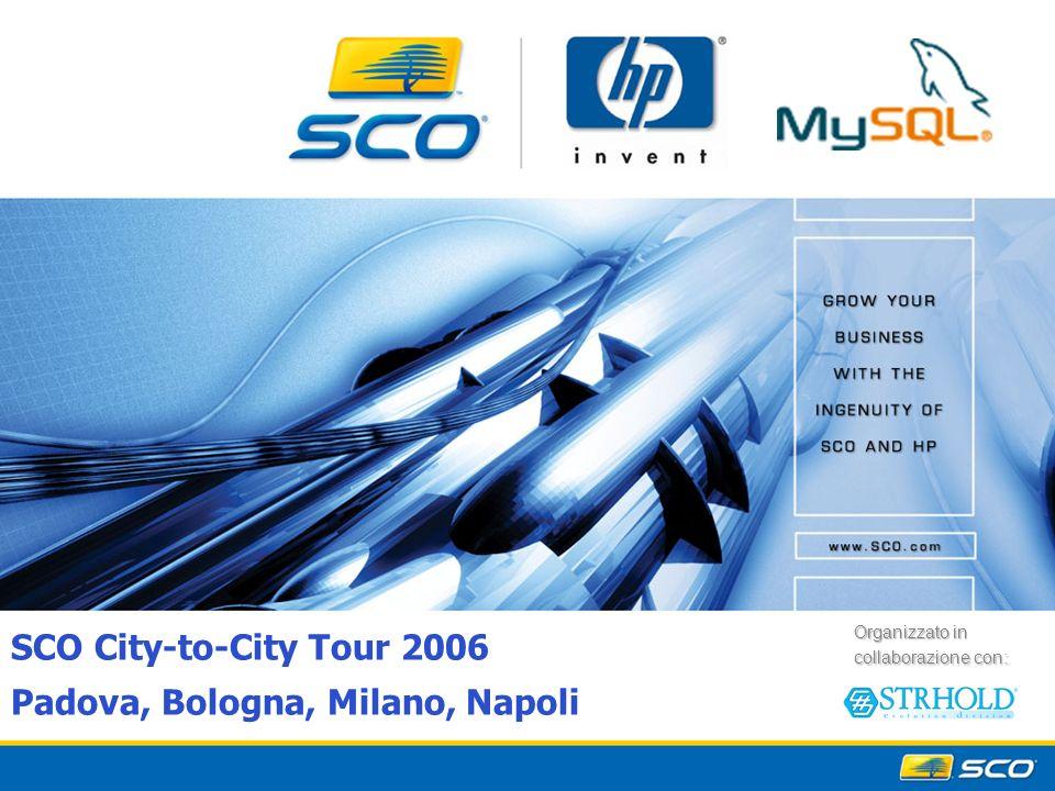 1 SCO City-to-City Tour 2006 Padova, Bologna, Milano, Napoli Organizzato in collaborazione con: