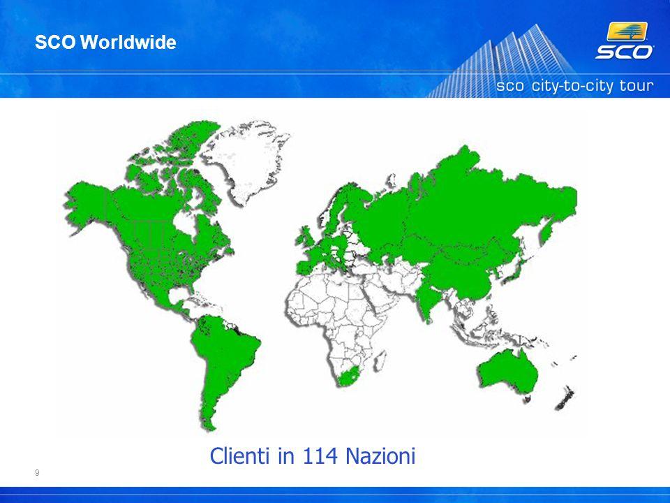 9 SCO Worldwide Clienti in 114 Nazioni