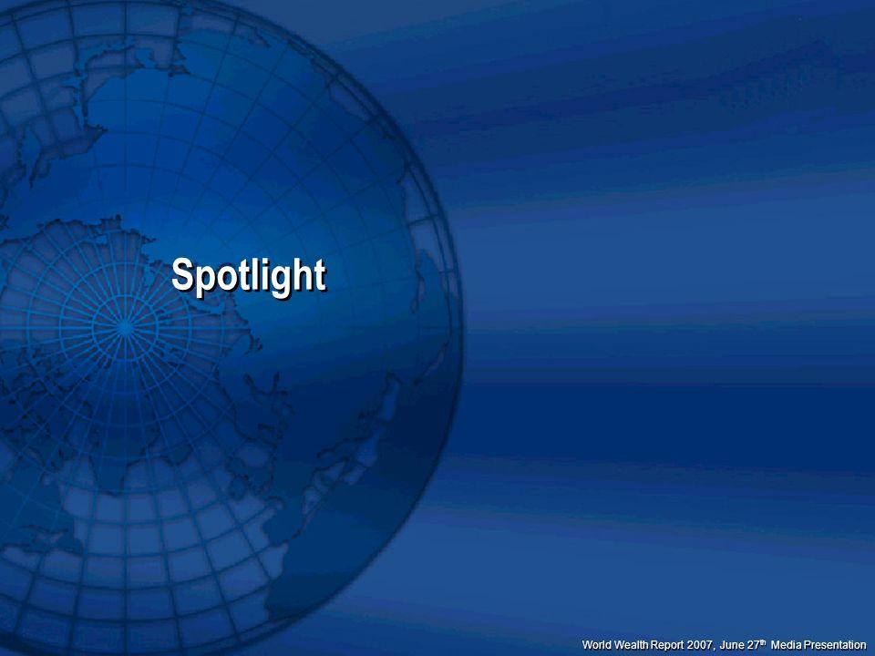 World Wealth Report 2007, June 27 th Media Presentation Spotlight