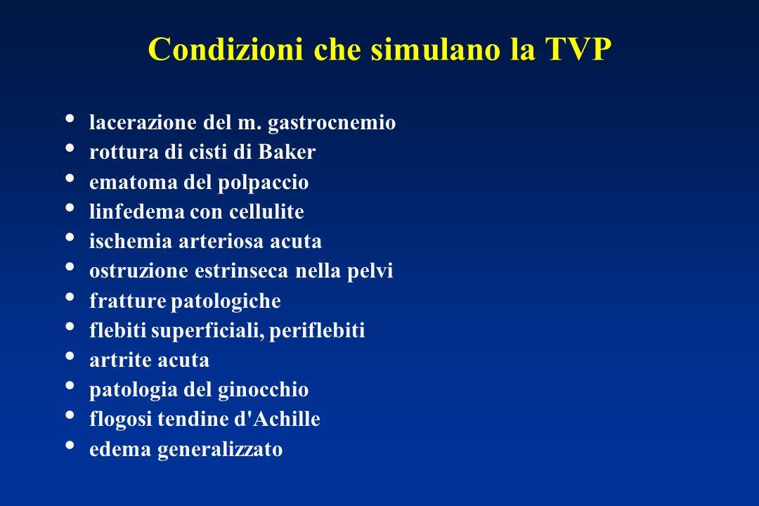 Condizioni che simulano la TVP lacerazione del m.