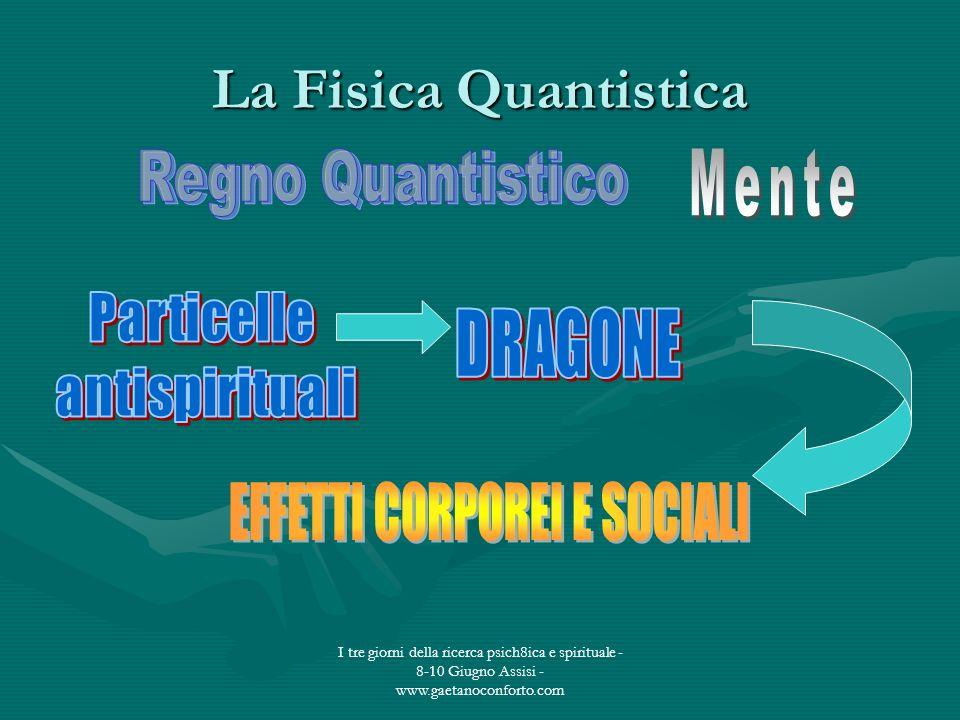 I tre giorni della ricerca psich8ica e spirituale - 8-10 Giugno Assisi - www.gaetanoconforto.com La Fisica Quantistica
