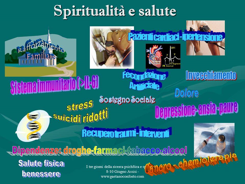 I tre giorni della ricerca psich8ica e spirituale - 8-10 Giugno Assisi - www.gaetanoconforto.com Spiritualità e salute