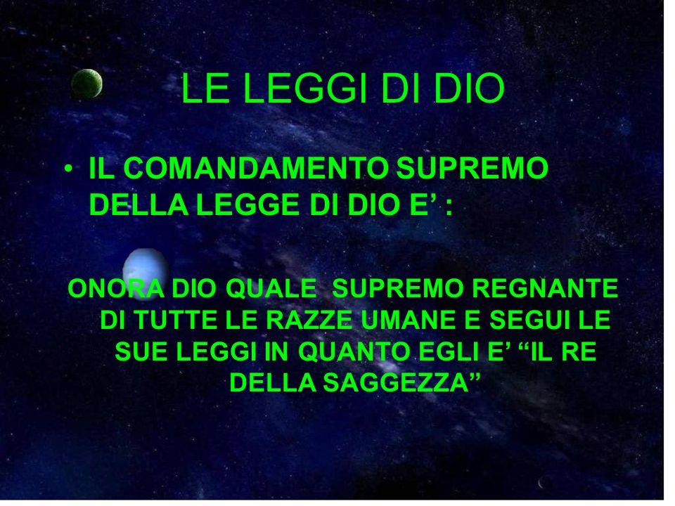 LE LEGGI DI DIO 17.
