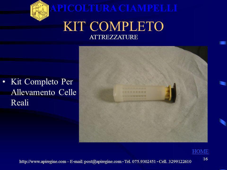 15 Proteggi Celle Reali ATTREZZATURE PROTEGGI CELLE http://www.apiregine.com – E-mail: post@apiregine.com - Tel. 075.9302451 - Cell. 3299122610 APICOL