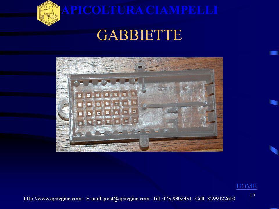 16 Kit Completo Per Allevamento Celle Reali ATTREZZATURE KIT COMPLETO http://www.apiregine.com – E-mail: post@apiregine.com - Tel. 075.9302451 - Cell.