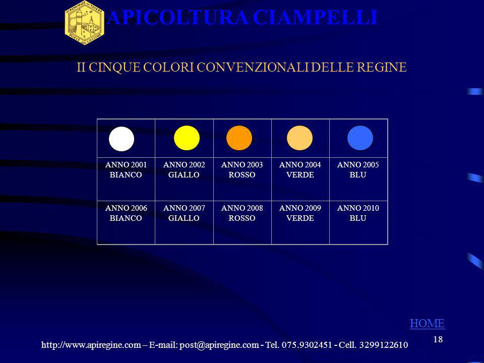 17 GABBIETTE http://www.apiregine.com – E-mail: post@apiregine.com - Tel. 075.9302451 - Cell. 3299122610 APICOLTURA CIAMPELLI HOME