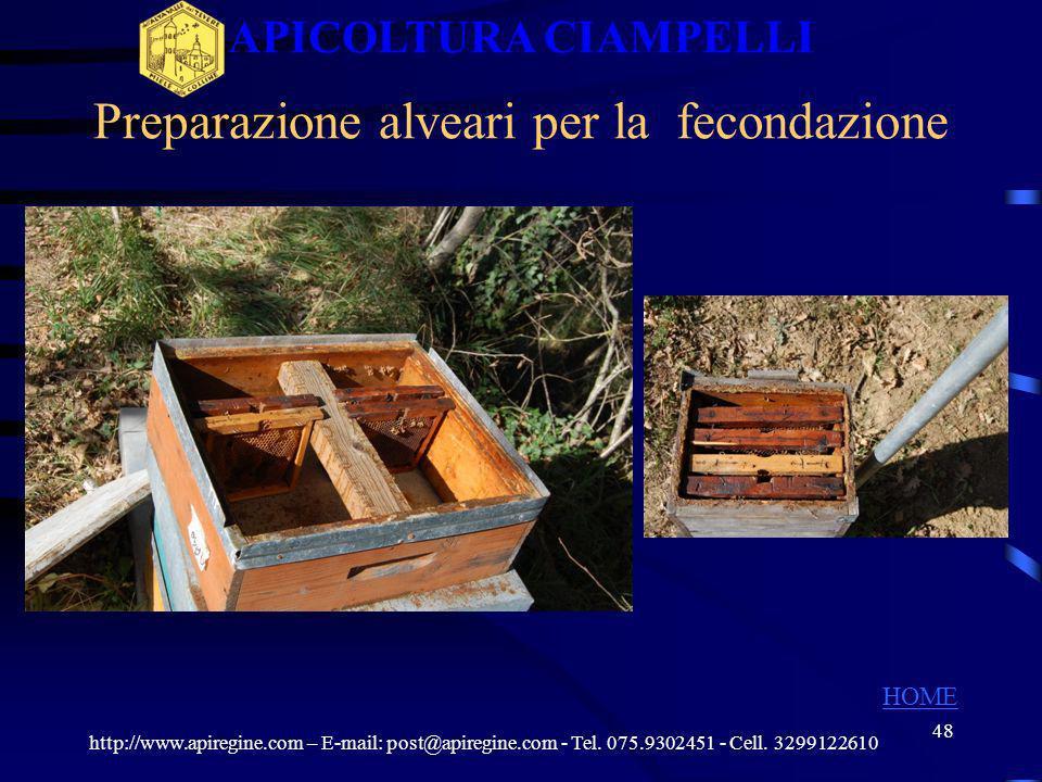 47 I TEMPI PER LA SOSTITUZIONE DELLA REGINA http://www.apiregine.com – E-mail: post@apiregine.com - Tel. 075.9302451 - Cell. 3299122610 APICOLTURA CIA