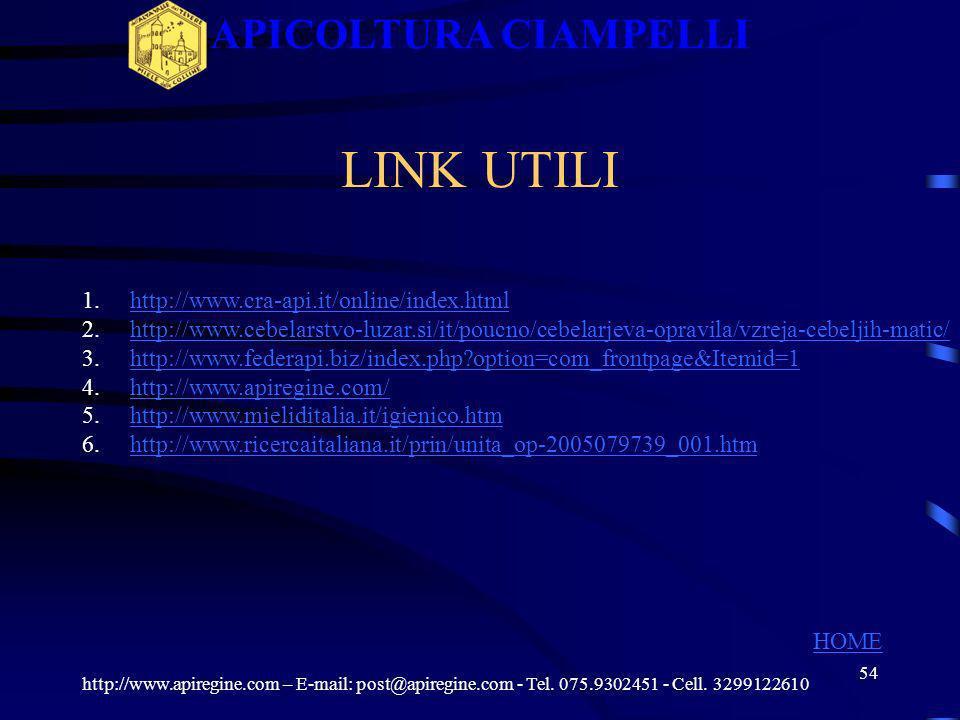 53 I COLORI http://www.apiregine.com – E-mail: post@apiregine.com - Tel. 075.9302451 - Cell. 3299122610 APICOLTURA CIAMPELLI II CINQUE COLORI CONVENZI