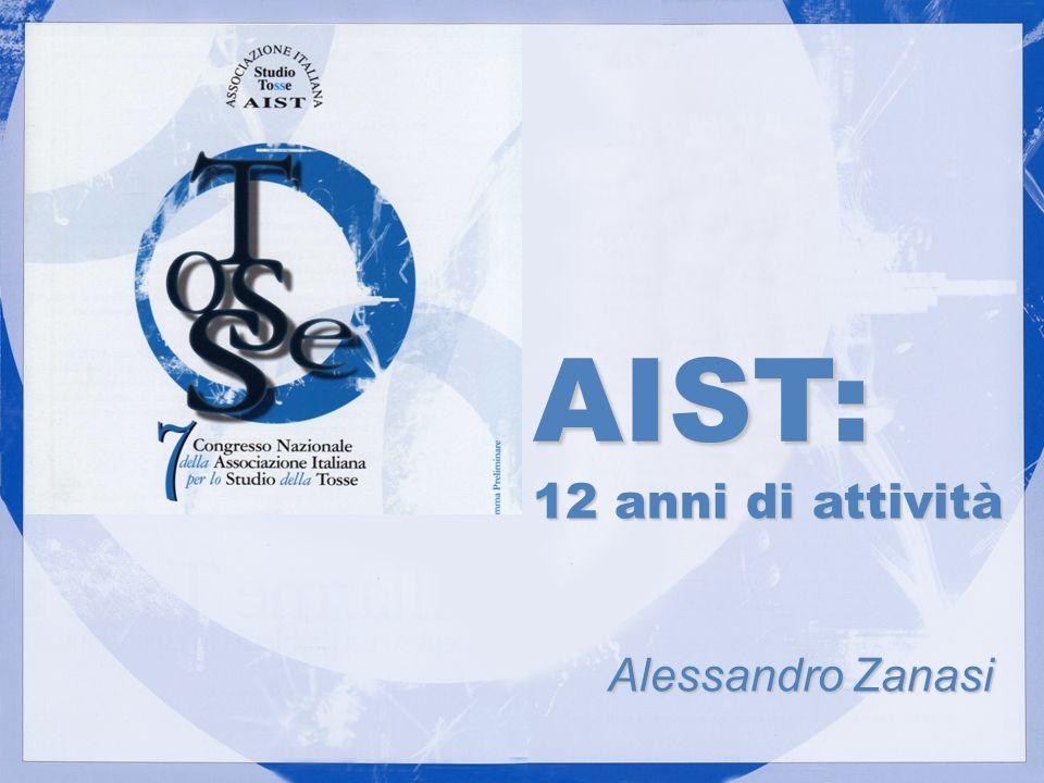 12 anni di attività Alessandro Zanasi Alessandro Zanasi AIST: