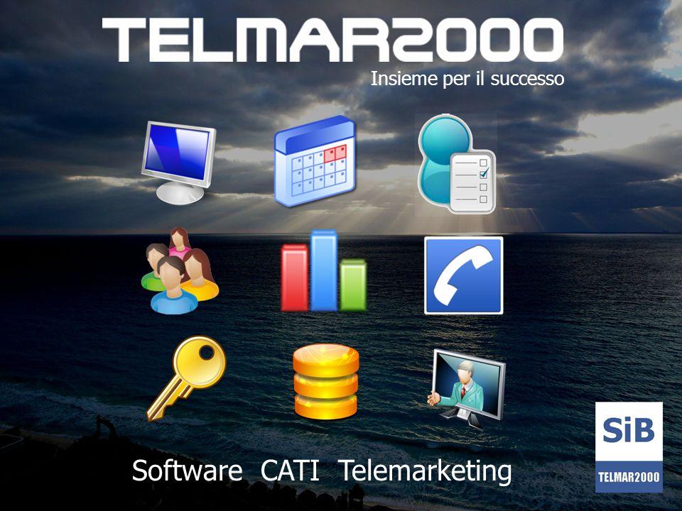 Cosè Telmar2000 E un prodotto leader per la gestione di campagne CATI e Telemarketing Nato per gestire il contatto telefonico Automatizza le attività di: - Telemarketing / Teleselling - Appuntamenti - Sondaggi - Ricerchi di mercato