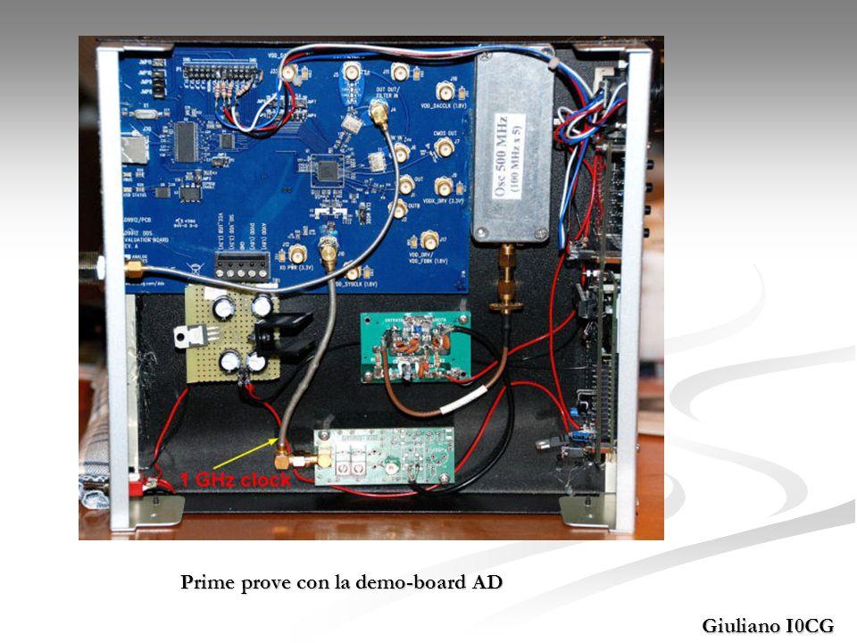 Giuliano I0CG Prime prove con la demo-board AD