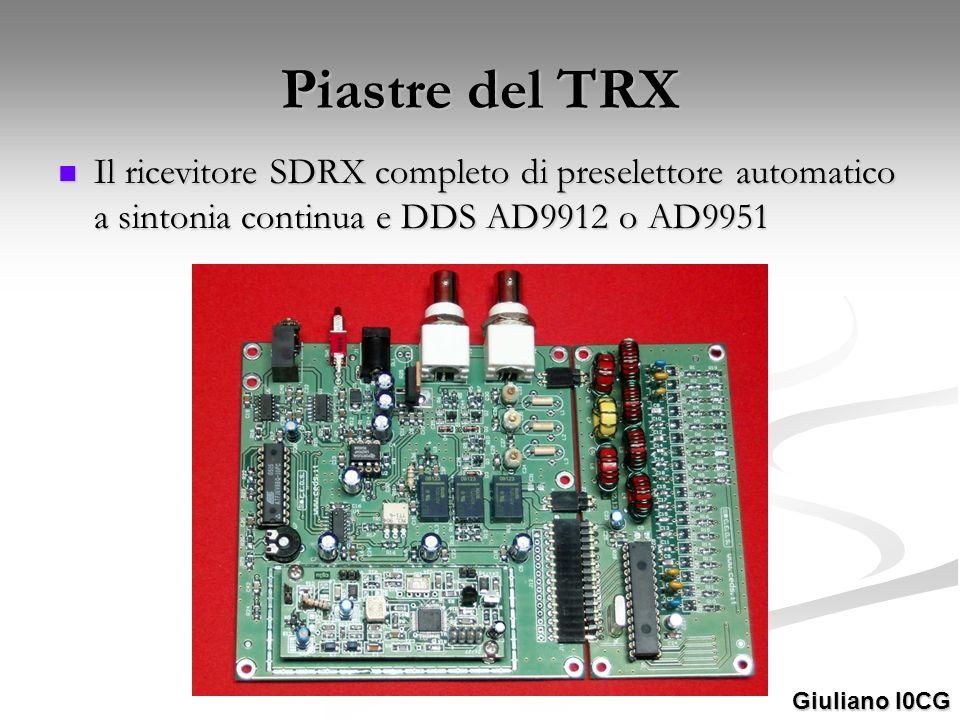 Piastre del TRX Il ricevitore SDRX completo di preselettore automatico a sintonia continua e DDS AD9912 o AD9951 Il ricevitore SDRX completo di presel