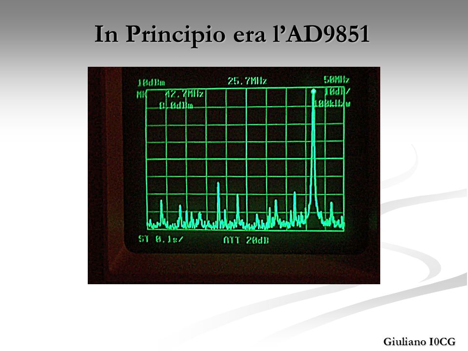 Giuliano I0CG In Principio era lAD9851