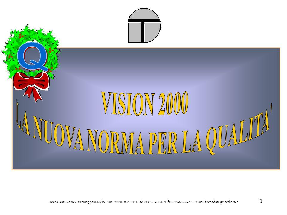 1 Tecna Dati S.a.s. V. Cremagnani 13/15 20059 VIMERCATE MI – tel.