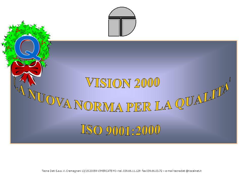 Tecna Dati S.a.s. V. Cremagnani 13/15 20059 VIMERCATE MI – tel. 039.66.11.129 fax 039.66.03.72 – e-mail tecnadati @tiscalinet.it
