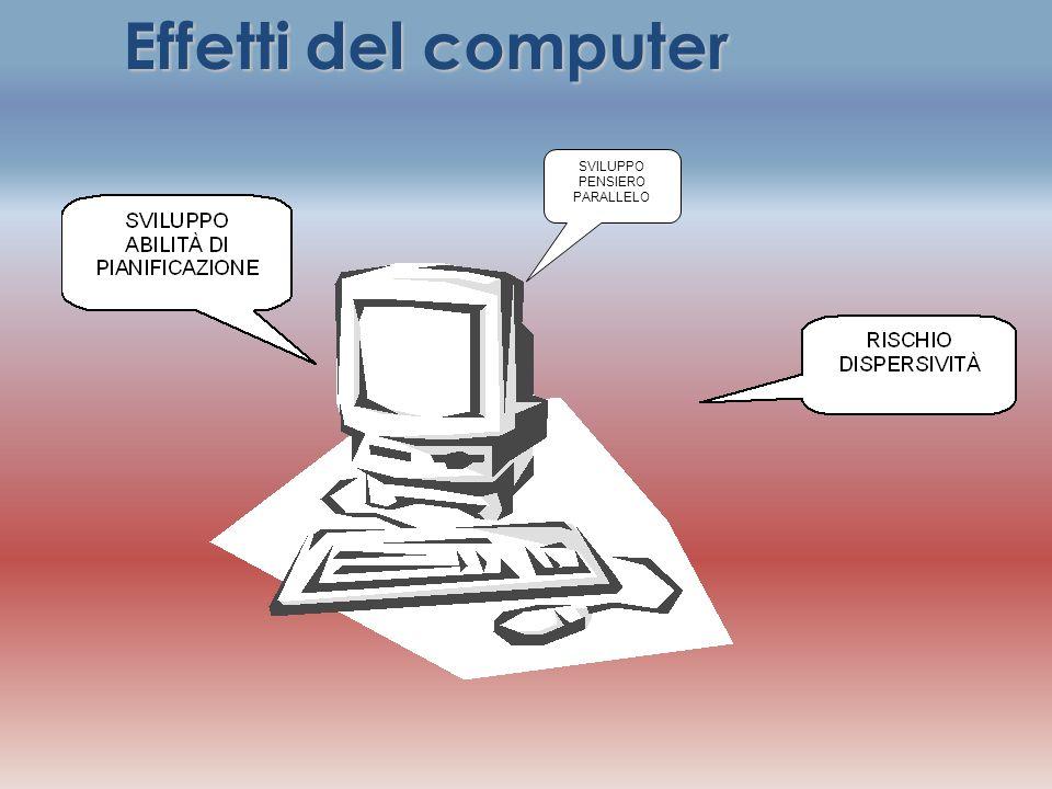 SVILUPPO PENSIERO PARALLELO Effetti del computer