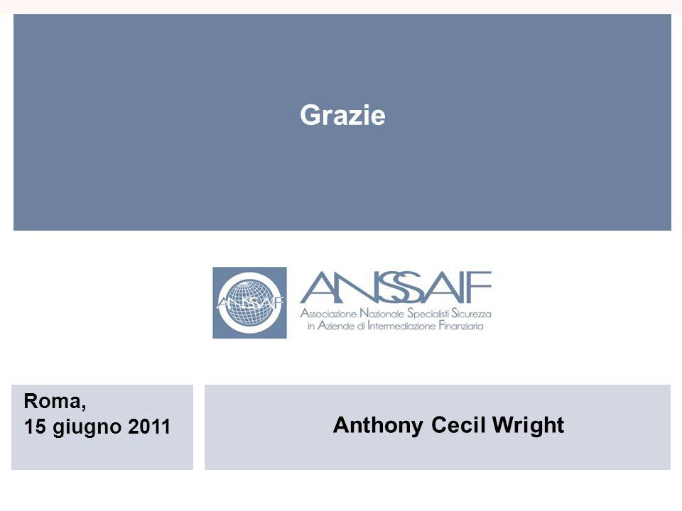Anthony Cecil Wright Roma, 15 giugno 2011 Grazie