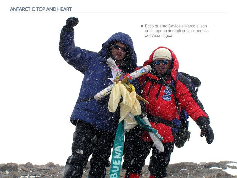 E sono partiti i progetti ed i preparativi per realizzare una spedizione fuori dal comune: ANTARCTIC TOP AND HEART il cui obiettivo è non solo quello di raggiungere la vetta del MOUNT VINSON (cima più alta dellAntartide) che, essendo una delle SEVEN SUMMITS o SETTE SORELLE, è una meta alpinisticamente conosciuta, ma, una volta ridiscesi e cambiata lattrezzatura, raggiungere il Polo Sud geografico con gli sci.