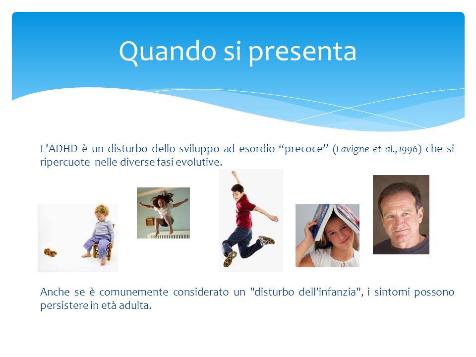 In età prescolare la presenza del disturbo si verifica in circa il 2% (5%) dei bambini ( Lavigne et al., 1996; 2009 ).