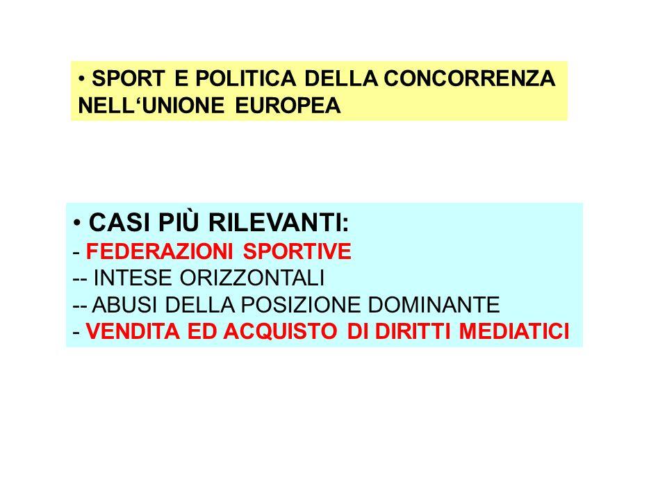 Qualche link per ulteriori informazioni: -http://europa.eu.int/comm/sport/sport-and/comp/competition_en.htmlhttp://europa.eu.int/comm/sport/sport-and/comp/competition_en.html - http://multimedia.olympic.org/pdf/en_report_264.pdfhttp://multimedia.olympic.org/pdf/en_report_264.pdf -http://www.europarl.eu.int/comparl/imco/studies/0905_study_sport_en.pdfhttp://www.europarl.eu.int/comparl/imco/studies/0905_study_sport_en.pdf