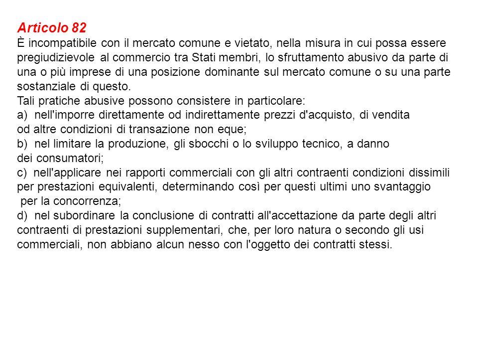 LEGGE 10 ottobre 1990, n.287 Art. 2. Intese restrittive della libertà di concorrenza 1.