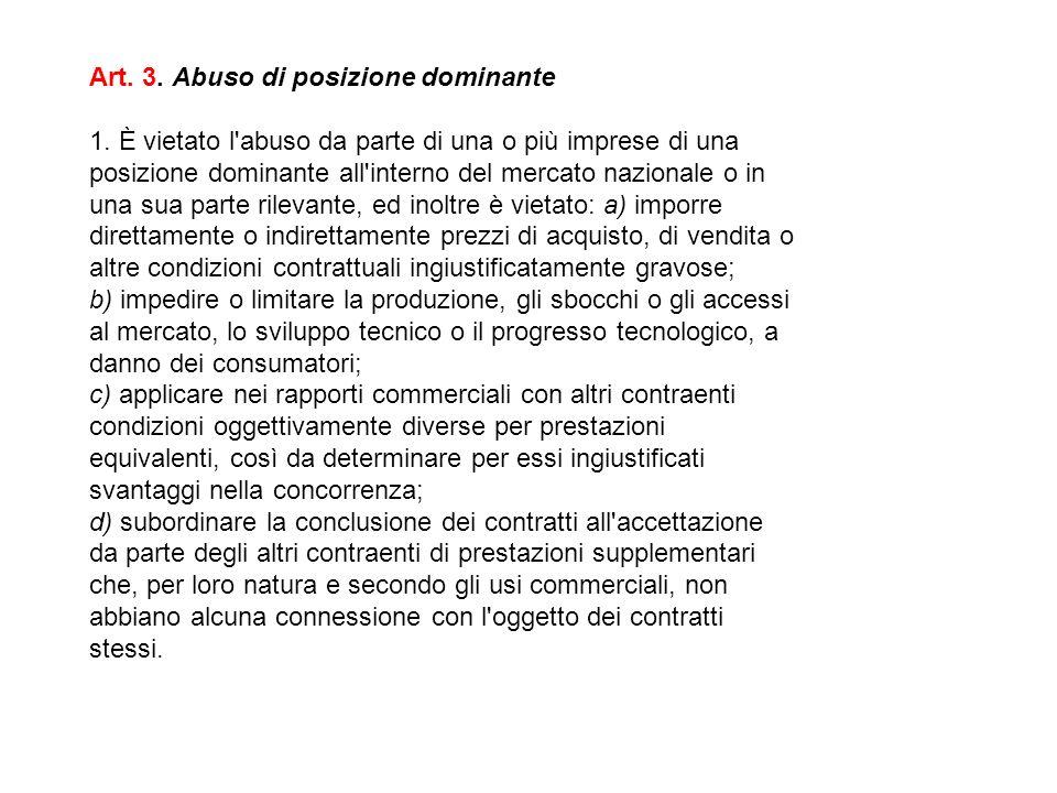 CONSUMATORI / UTILIZZATORI A B C effetti restrittivi della concorrenza.