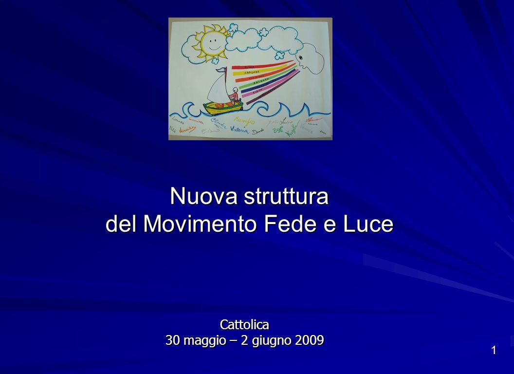 1 Nuova struttura del Movimento Fede e Luce Cattolica 30 maggio – 2 giugno 2009