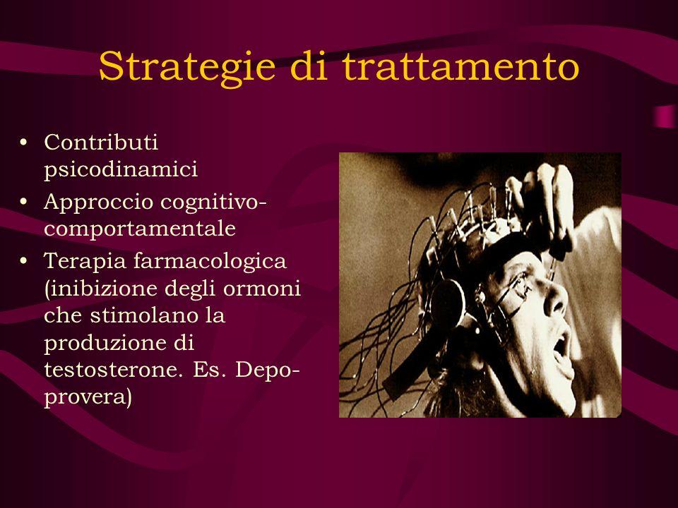 Strategie di trattamento Contributi psicodinamici Approccio cognitivo- comportamentale Terapia farmacologica (inibizione degli ormoni che stimolano la