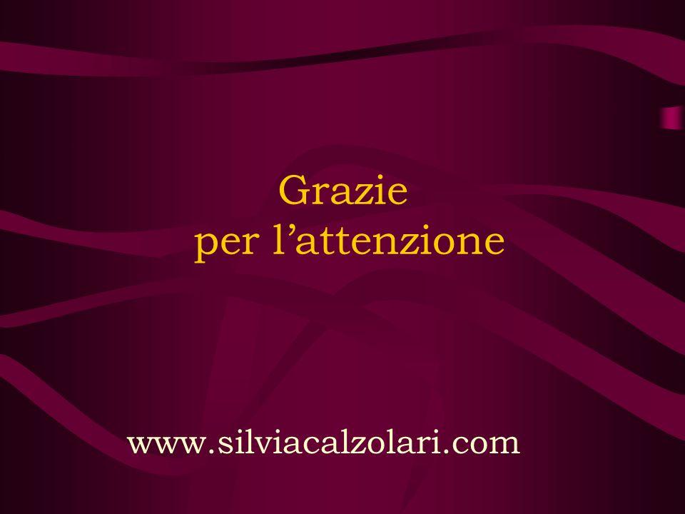 Grazie per lattenzione www.silviacalzolari.com