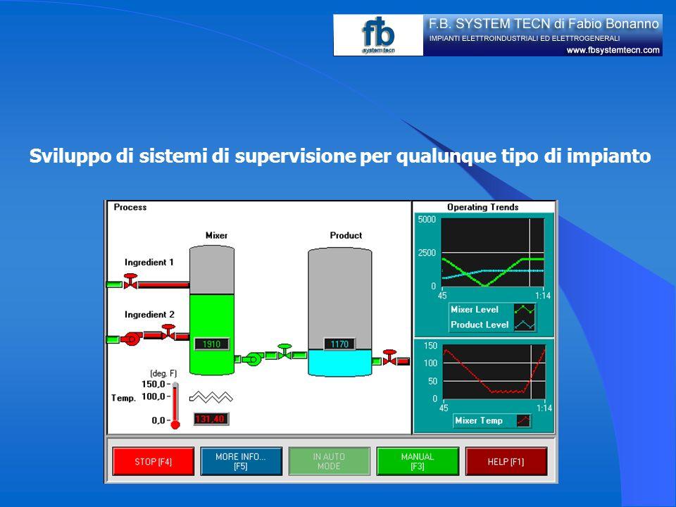 Sviluppo di sistemi di supervisione per qualunque tipo di impianto