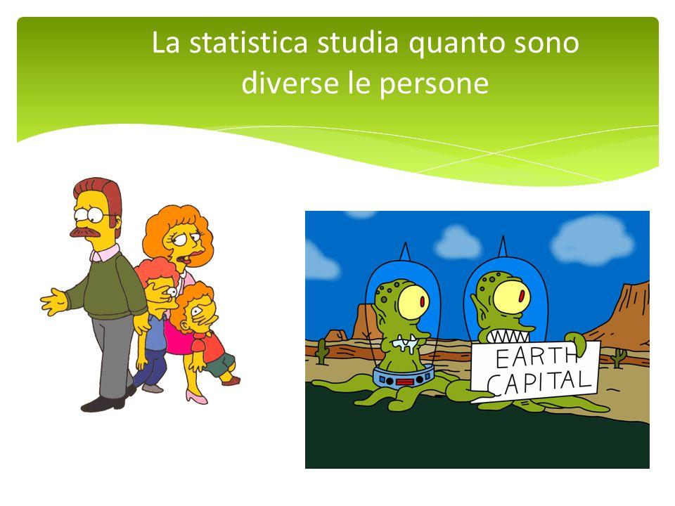 La statistica studia quanto sono diverse le persone