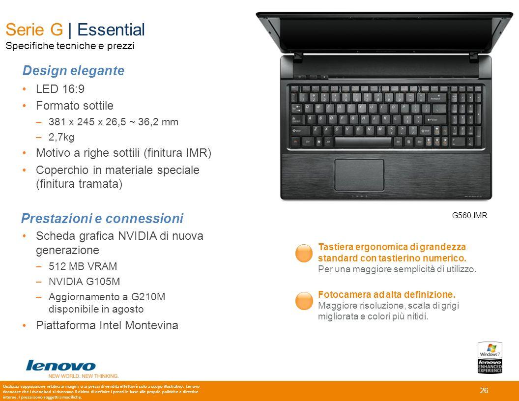 26 Serie G | Essential Specifiche tecniche e prezzi G560 IMR Tastiera ergonomica di grandezza standard con tastierino numerico. Per una maggiore sempl
