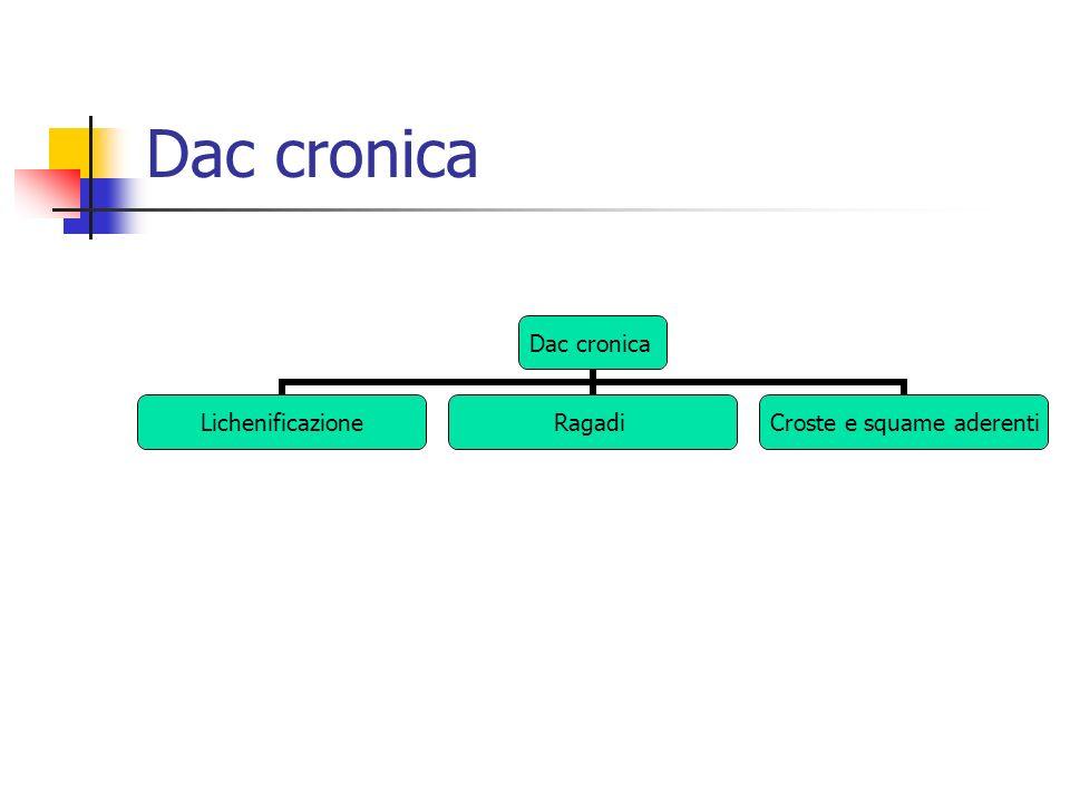 Dac cronica LichenificazioneRagadi Croste e squame aderenti